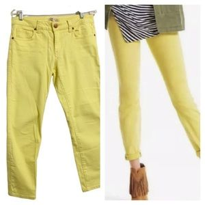 CABI JEANS Citron Yellow Curvy Skinny Jeans
